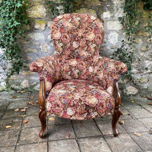 Grand fauteuil bergère ancienne