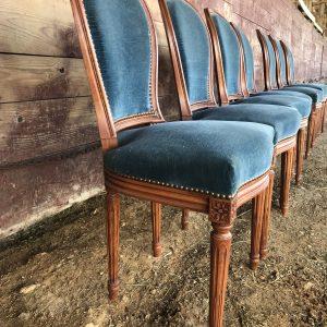 Série de chaises Médaillon de style Louis XVI