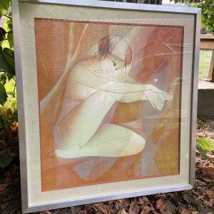 Lithographie nu féminin par valadier